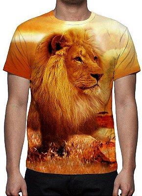 ANIMAIS - Leão Dourado - Camiseta Variada