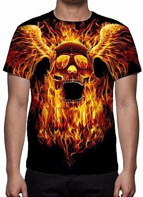REAPER MORTE - Em Chamas - Camiseta Variada