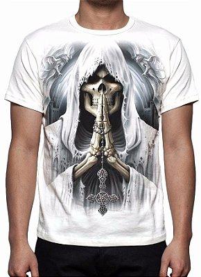 REAPER MORTE - Death Prayer Branca - Camiseta Variada