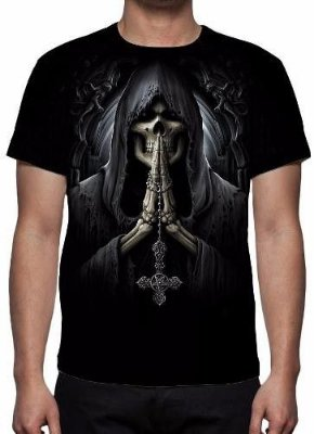 REAPER MORTE - Death Prayer Preta - Camiseta Variada