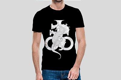 ÔMEGA COMICS - Leviatã Logo Preta - Camiseta de Parceiros