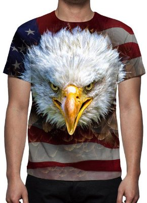 ANIMAIS - Águia Americana - Camiseta Variada
