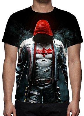 DC GAMES - Batman Arkham Knight Capuz Vermelho - Camiseta de Games