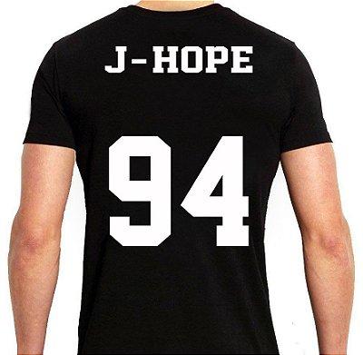 BTS Bantang Boys - Army Preta J-Hope - Camiseta de Kpop