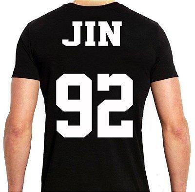 BTS Bantang Boys - Army Preta Jin - Camiseta de Kpop