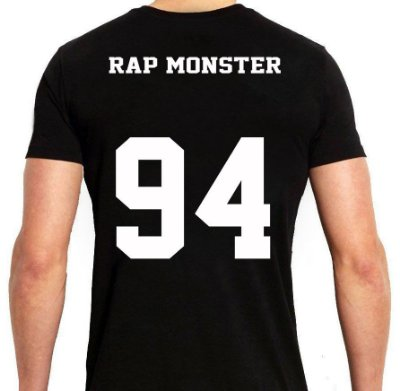 BTS Bantang Boys - Army Preta Rap Monster - Camiseta de Kpop