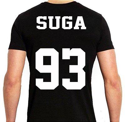 BTS Bantang Boys - Army Preta Suga - Camiseta de Kpop