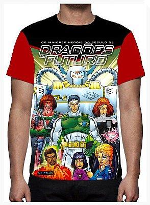KIMERA  - Dragões do Futuro Capa 1 -  Camiseta de Desenhos