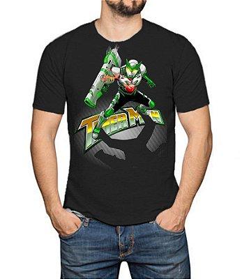 TIMERMAN - Canhão Timerbolt Preta - Camiseta de Tokusatsu