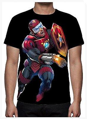 KIMERA - Capitão R.E.D Preta - Camiseta de Quadrinhos Nacionais