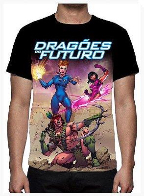 KIMERA  - Dragões do Futuro Modelo 2 -  Camiseta de Desenhos