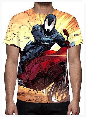 KIMERA  - Lagarto Negro Moto - Camiseta de Desenhos