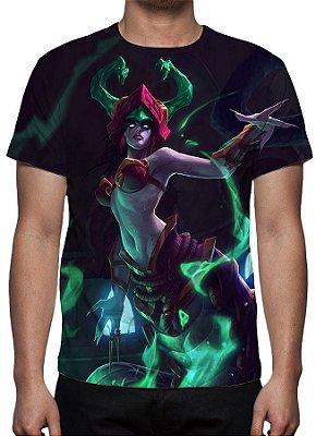 LEAGUE OF LEGENDS - Cassiopeia Presas de Jade - Camiseta de Games