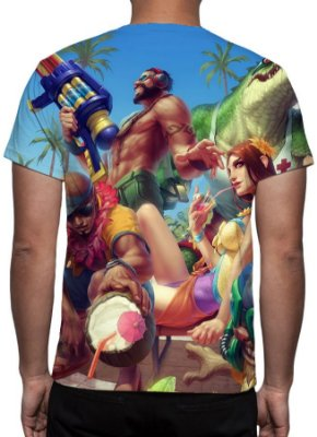 LEAGUE OF LEGENDS - Curtindo o Verão Modelo 2 - Camiseta de Games