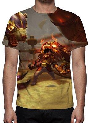 LEAGUE OF LEGENDS - Gnar El Leon - Camiseta de Games