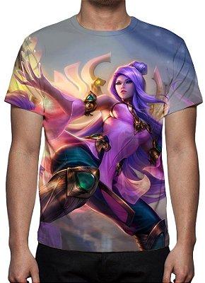LEAGUE OF LEGENDS - Irelia Ordem do Lotus - Camiseta de Games
