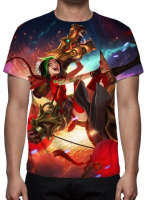 LEAGUE OF LEGENDS - Jinx Fogos de Artifício - Camiseta de Games