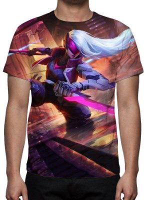 LEAGUE OF LEGENDS - Katarina Projeto - Camiseta de Games