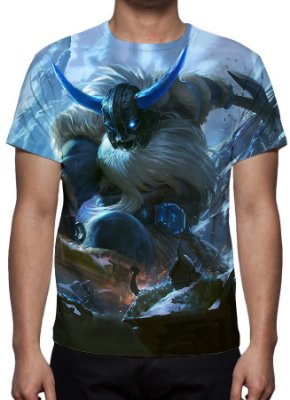 LEAGUE OF LEGENDS - Olaf Glacial - Camiseta de Games
