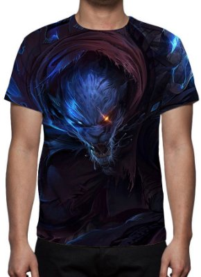 LEAGUE OF LEGENDS - Rengar Caçador Noturno - Camiseta de Games