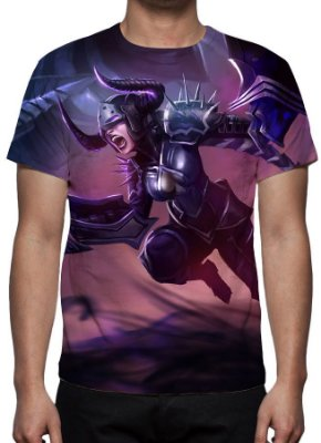 LEAGUE OF LEGENDS - Shyvana Chamas Negras - Camiseta de Games