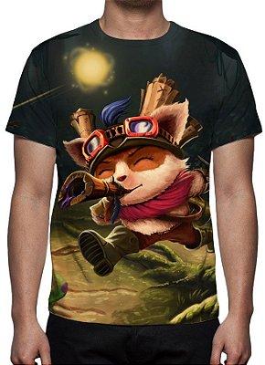 LEAGUE OF LEGENDS - Teemo Explorador Veloz Preta - Camiseta de Games