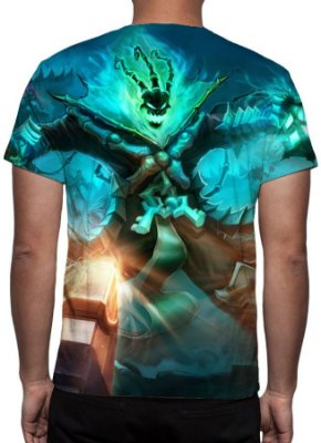 LEAGUE OF LEGENDS - Thresh Guardião das Correntes Modelo 1 - Camiseta de Games