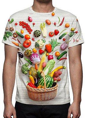 ESTAMPADAS - Cesta de Legumes - Camiseta Variada
