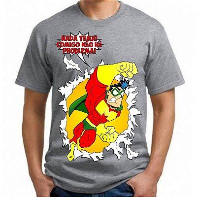 CAPITÃO MIOLO MOLE - Não Tema Cinza - Camiseta de Quadrinhos Nacionais