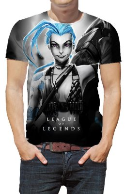LEAGUE OF LEGENDS - Jinx - Camiseta de Games
