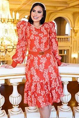 Vestido Lady Like Moda Evangelica em renda manga Longa RP