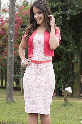 Vestido Monia Malha Jacquard com Bolero 64325