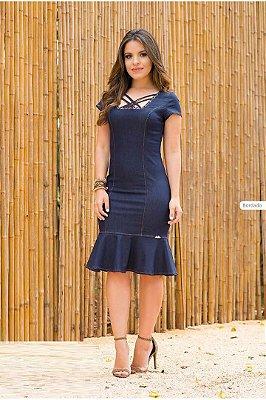 Vestido Jeans com Babado Monia 64317