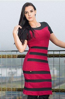 Vestido Jacquar Moda Evangelica Midi Nk5512