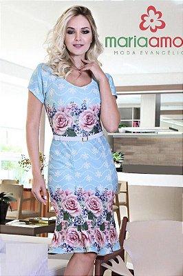 Vestido Estampado com Cinto Samara MA1498