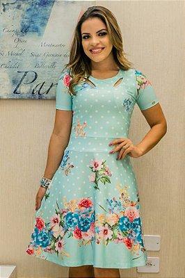 Vestido Laura Moda Evangelica em Neoprene Bk852