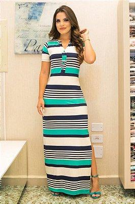 Vestido Longo Moda Evangelica em Malha Forrado Bk4557