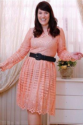 Vestido Moda Evangelica Manga Longa em Renda AZ30097