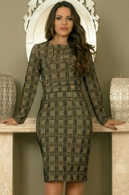 Vestido Xadrez Moda Evangelica BK 869