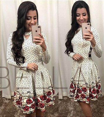 Vestido Lady Moda Evangelica Estampado KB