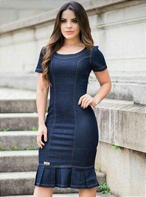 Vestido Jeans Moda Evangelica Sino EJ
