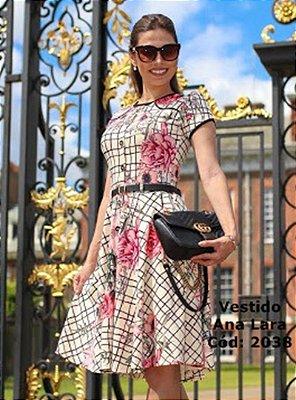 Vestido Moda Evangelica Acompanha Cinto Maria Amore 2038