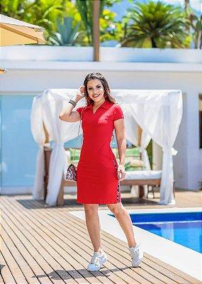 Vestido Esportivo Moda Evangelica Love Vermelho BK 4739