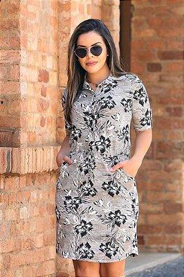Vestido Chamise Moda Evangelica Estampado Boutique K 0895