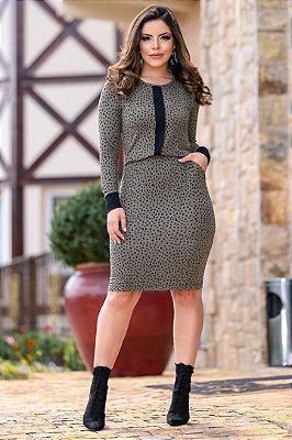 Vestido em Malha Tubinho Moda Evangelica com Elastico na cintura Boutique K 4767