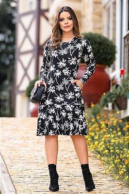 Vestido Soltinho Moda Evangelica Com Bolso Boutique K 4765