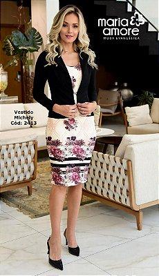 Vestido com Blazer Moda Evangelica Maria Amore 2413