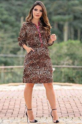 Vestido em Viscose Moda Evangelica estilo Chemise Boutique K 0112