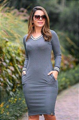 Vestido Sport Moda Evangelica em Malha Canelada EM Karen