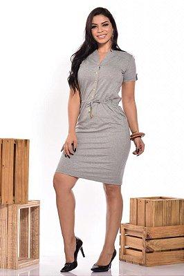 Vestido Moda Evangelica em Malha com Botões no Busto DM